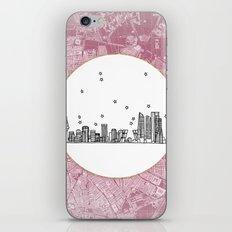 Madrid, Spain City Skyline Illustration Drawing iPhone & iPod Skin