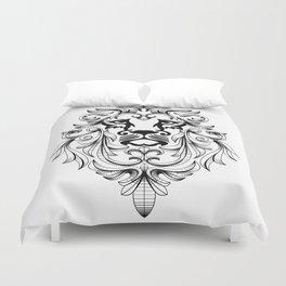 Heraldic Lion Head Duvet Cover
