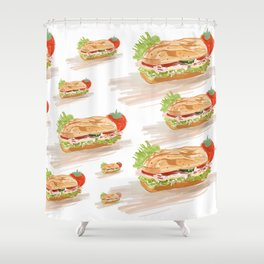 National Hoagie Day Shower Curtain