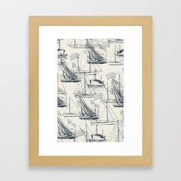 sailing the seas mode Framed Art Print