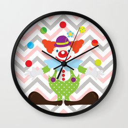 Clown with balls - Circus Wall Clock