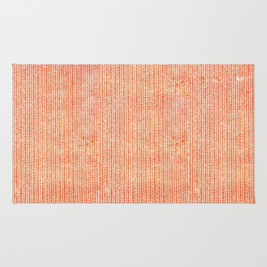 Stockinette Orange Rug