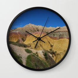 Colorful Badlands Landscape Wall Clock