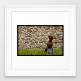 Dogs Are People Too Framed Art Print