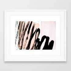strokes on blush Framed Art Print