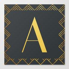 Art Deco Monogram - A Canvas Print