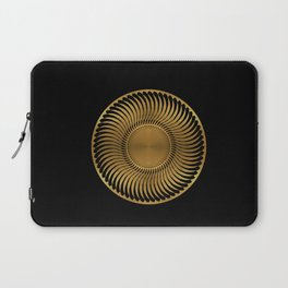 MARIGOLD - swirling black mandala on gold Laptop Sleeve