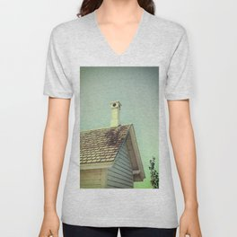 Summer cottage gable roof Unisex V-Neck