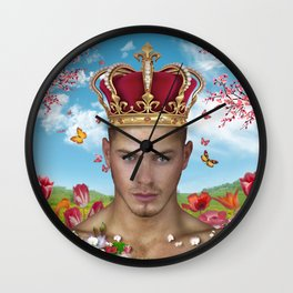 free portrait Wall Clock