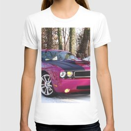 Fuchsia Panther Pink Limited Edition Hurst Challenger RT T-shirt