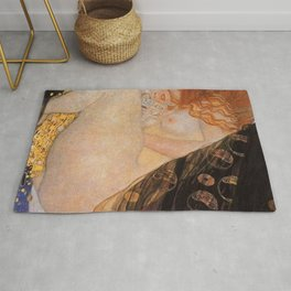Danae Portrait Painting by Gustav Klimt Rug