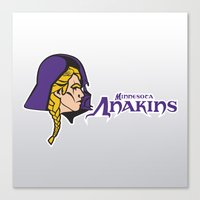 nfl Canvas Prints featuring Minnesota Anakins - NFL by Steven Klock