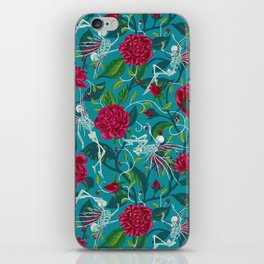 Death of Summer (carmine and blue) iPhone Skin