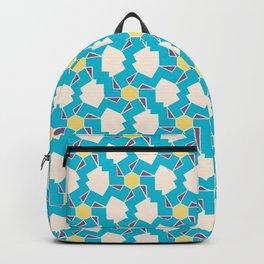 Digital Geometric Motif blue palette Backpack