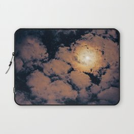 Full moon through purple clouds Laptop Sleeve