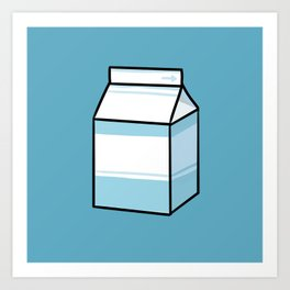 Milk Carton Art Print