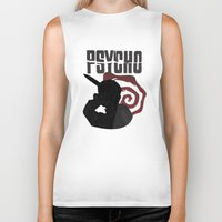 psycho Biker Tanks featuring Psycho by Vickn