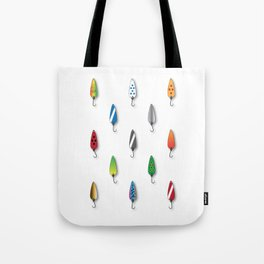 Fishing Spoons Tote Bag