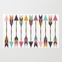 bohemian Area & Throw Rugs featuring Bohemian Arrows by Bohemian Gypsy Jane