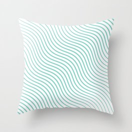 Tirquaz wavy modern lines Throw Pillow