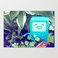 beemo Canvas Prints featuring Beemo Loves the Garden by MSG Imaging