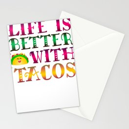 Taco Lover Life Is Better With Tacos Stationery Cards