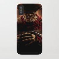 freddy krueger iPhone & iPod Cases featuring Freddy Krueger by Duke78