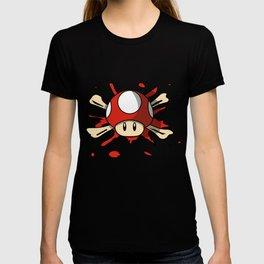 Red Mushroom Crossbones T-shirt