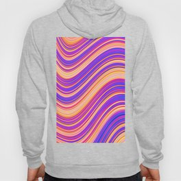 Colorful Wavy Stripes Hoody