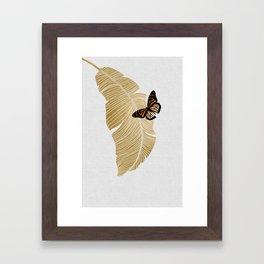 Butterfly & Palm Framed Art Print
