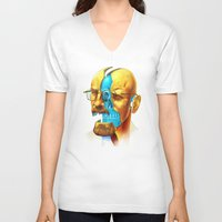 breaking V-neck T-shirts featuring Breaking Bad / Broken Bad by Mirco