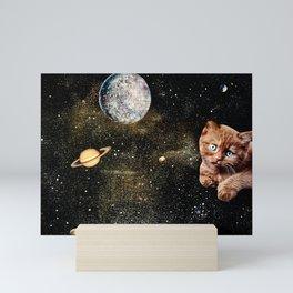 Blue Moon Kitty Mini Art Print