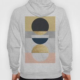 Marble and gold circle Hoody