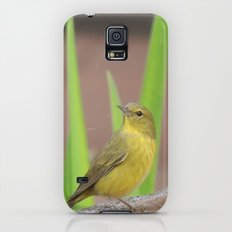 Yellow Warbler at the Fountain Slim Case Galaxy S5