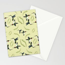 Mr. and Mrs. Hummingbird Pattern Stationery Cards