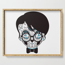 scull head with bow tie Serving Tray