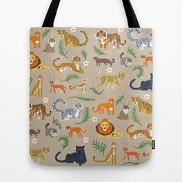 Exotic Cats Tote Bag