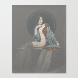 Catherine, seated Canvas Print