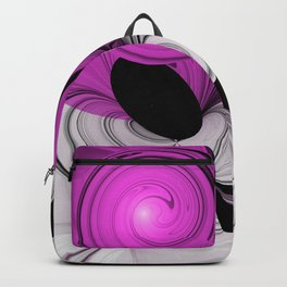 Abstract Black and White with Pink Backpack