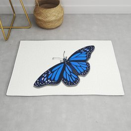Blue Monarch Butterfly Rug