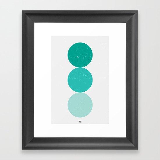 turquoise i 001 Framed Art Print