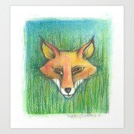 My friend the fox! Art Print