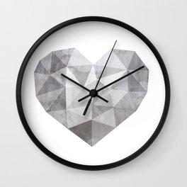 Fractal heart in shades of gray  Wall Clock