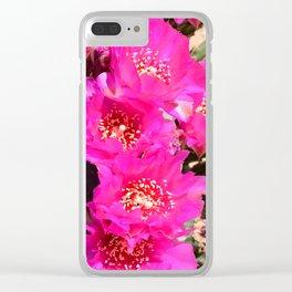 Beavertail Cactus in Bloom - III Clear iPhone Case