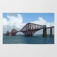 scotland Area & Throw Rugs featuring Forth Bridge, Scotland by Phil Smyth