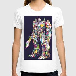Transformer in pop art T-shirt
