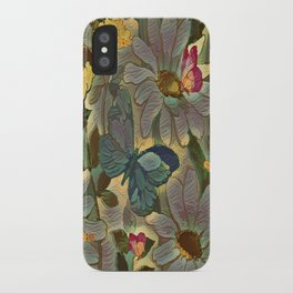 Painterly Flowers and Butterflies iPhone Case