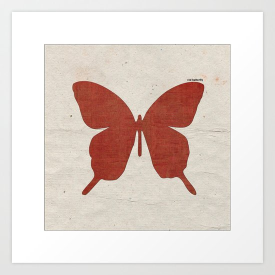 red B Art Print