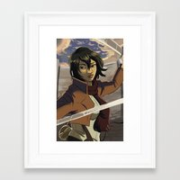 mikasa Framed Art Prints featuring Mikasa by Marco