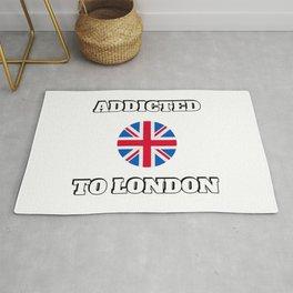 Addicted to London United Kingdom flag Rug